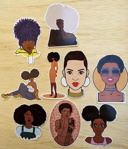 Natural Hair Sticker Pack