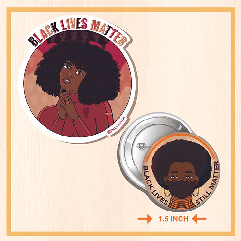 Black Lives Matter Button & Sticker Set