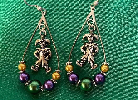 Mardi Gras Earrings  Wednesday January 13, 2021 11:00am - 2:30pm