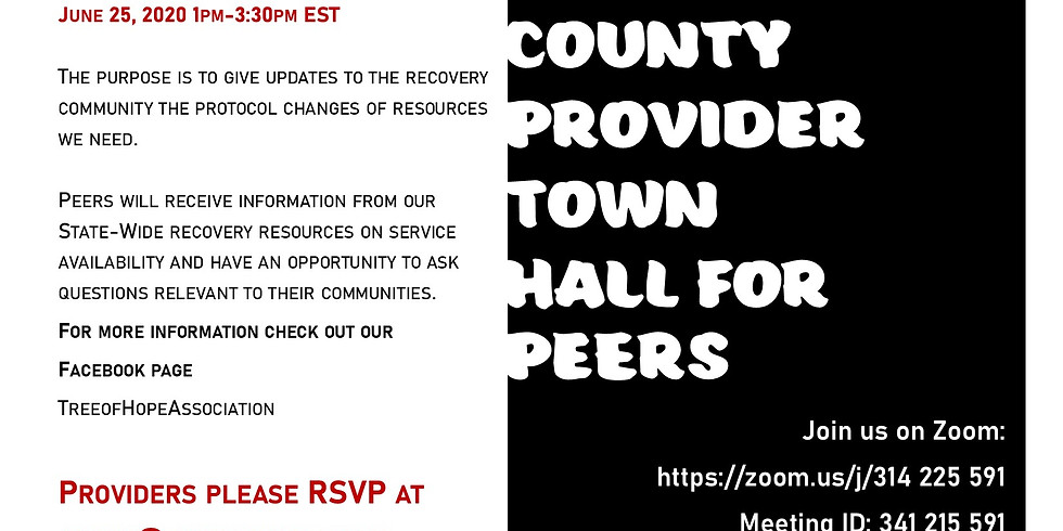 Montgomery County Provider Town Hall for Peers - June 25, 2020