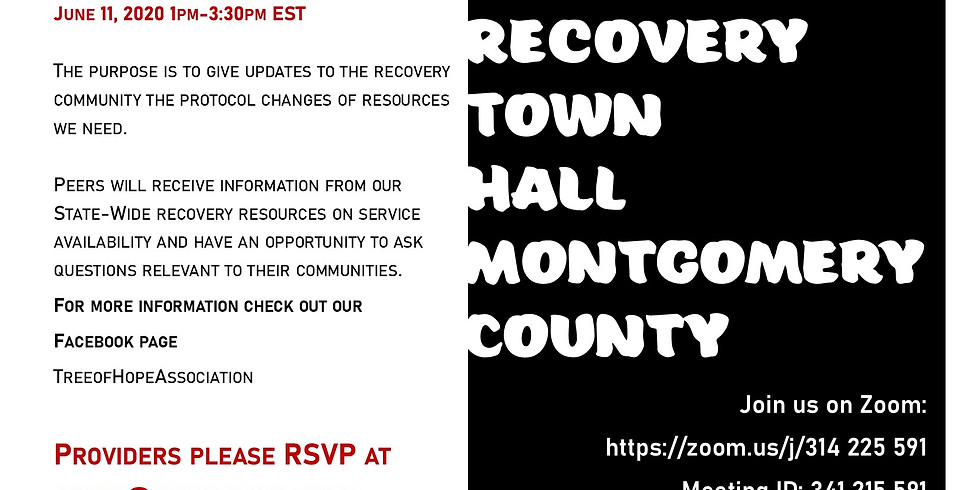 Montgomery County Provider Town Hall for Peers - June 11, 2020