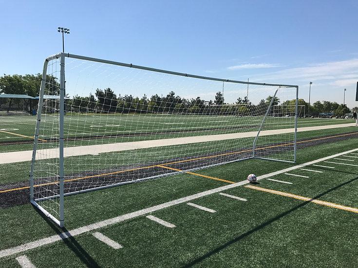 """Vallerta® Premier 24x8, 2"""" Heavy Duty Steel Frame Soccer Goal w/Premium 4MM Net."""