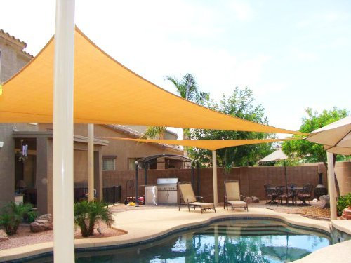 Petra's Equilateral Triangle Sun Sail Shade. Outdoor Fabric w/ 90% UV Protection