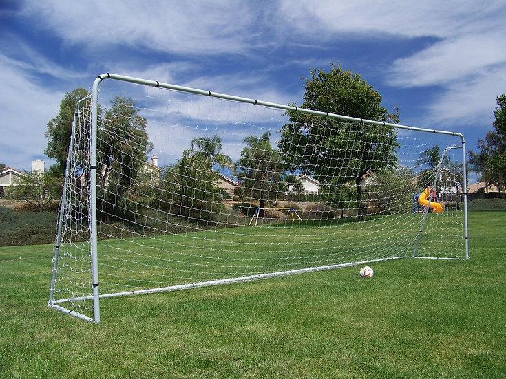 21 x 7 Ft. Official Regulation Size. Heavy Duty Steel Soccer Goal w/Net.