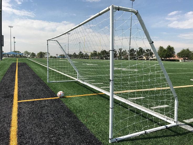 """Vallerta® Premier 12x6, 2"""" Heavy Duty Steel Frame Soccer Goal w/ Premium Net."""