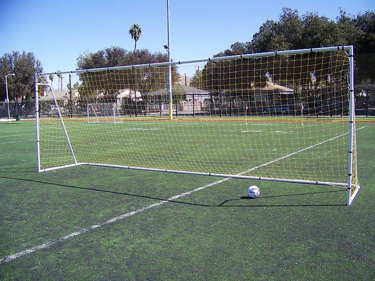24 x 8 Ft. Official Regulation Size. Heavy Duty Steel Soccer Goal w/Net.