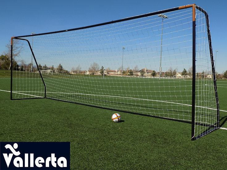 "Vallerta® Premier 24x8, 2"" Heavy Duty Black Steel Frame Goal w/Premium Net."