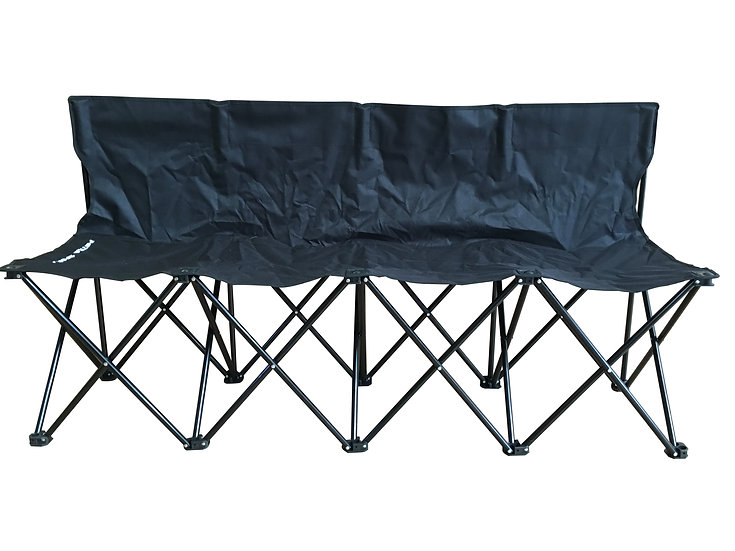 4 Seat Fold-able & Portable Sports Team Bench w/Carry Bag.