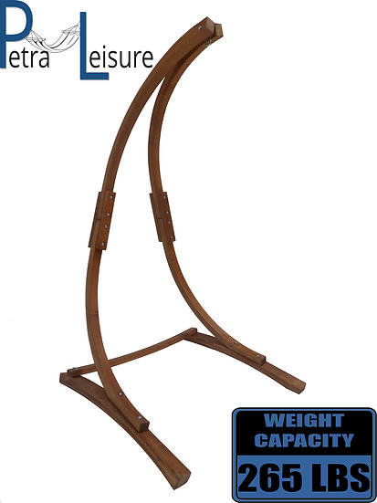 Petra Leisure 7 Ft. Teak Stain Hammock Chair Stand.
