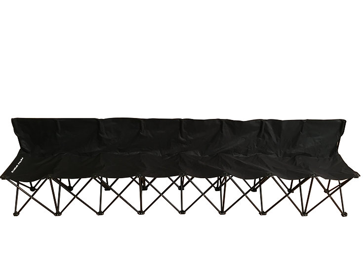 8 Seat Fold-able & Portable Sports Team Bench w/Carry Bag.