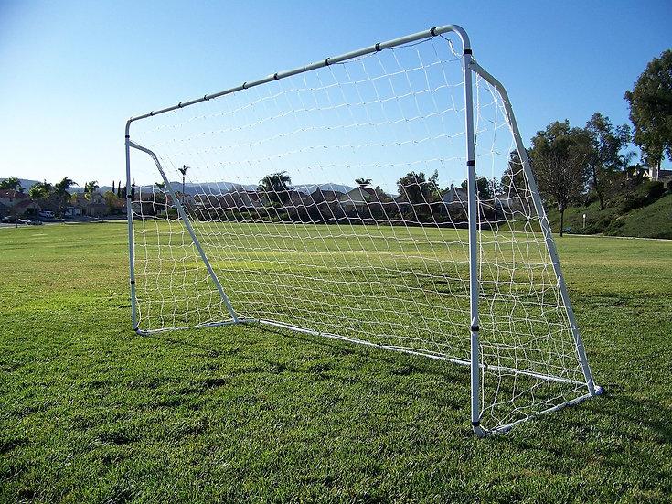 Vallerta® 12 x 6 Ft. Steel Frame Soccer Goal w/ Net, Velcro Straps & Anchors.