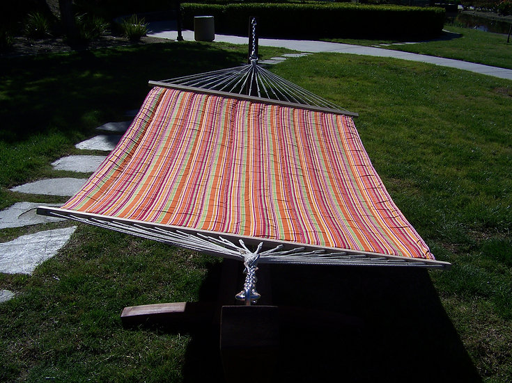 Premium Quilted, Padded Hammock Bed. 2 Person Bed. 425 LB Capacity
