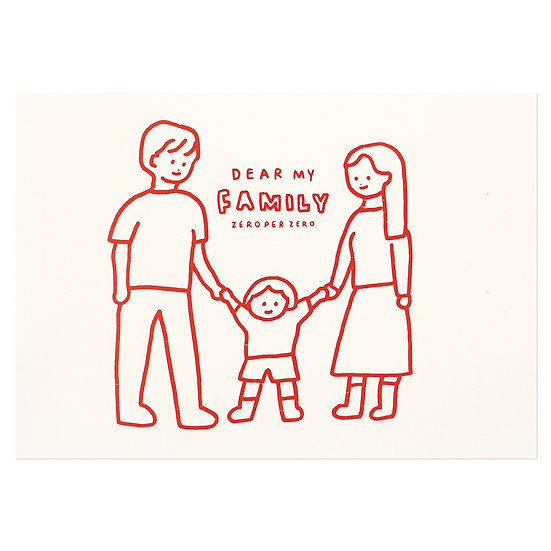 FAMILY2(RED) | Pressed Card
