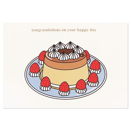 PUDDING   Cake card