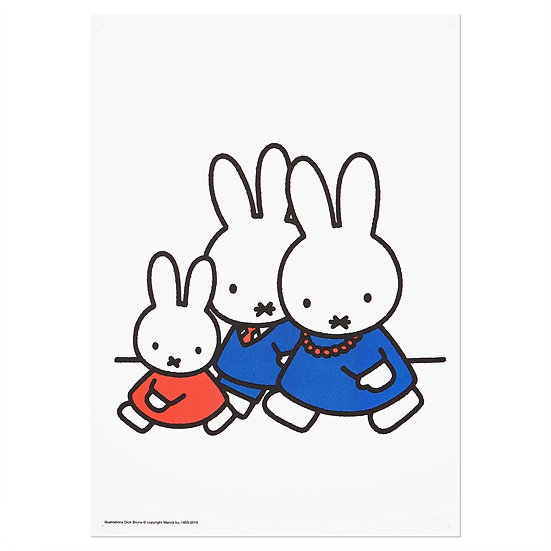 MIFFY FAMILY WALKING | MIFFY A3 RISO poster