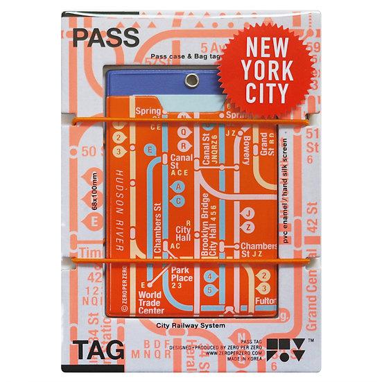 NYC orange | Pass tag