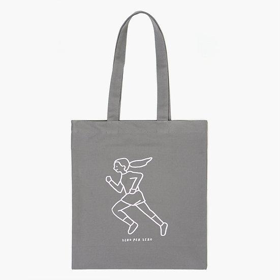 RUNNING GIRL gray   Eco bag