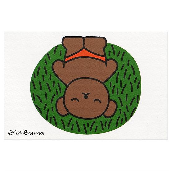 BORIS ON THE GRASS | Miffy Postcard