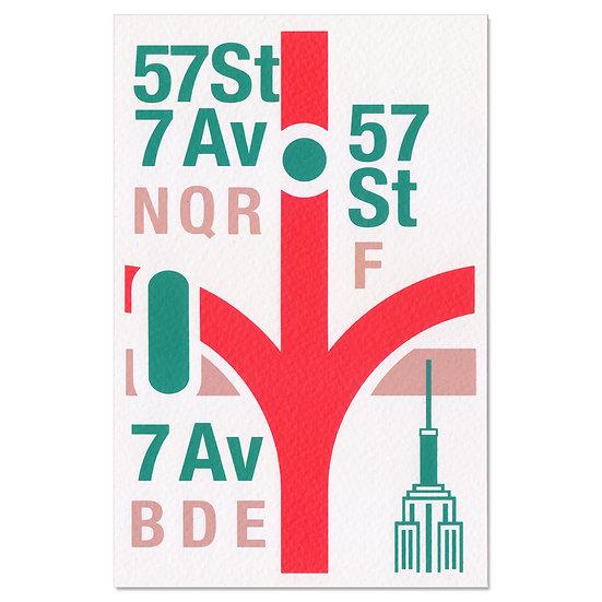 NYC 57St | Postcard