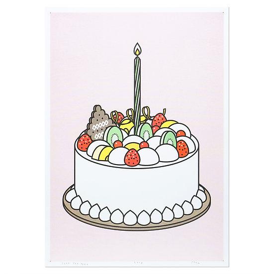 CREAM CAKE2 | A3 RISO poster