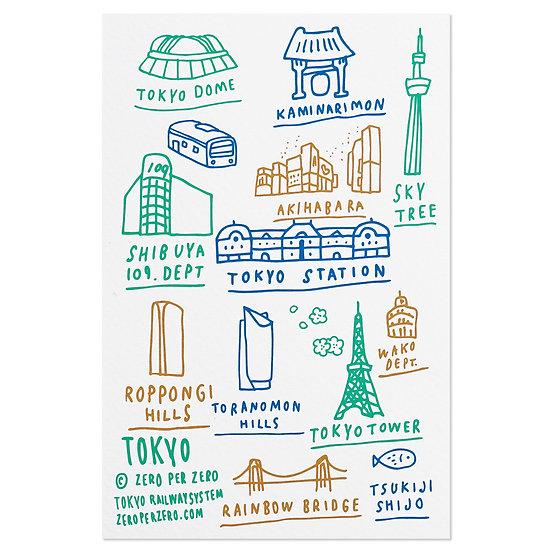 TOKYO hand2 | Postcard