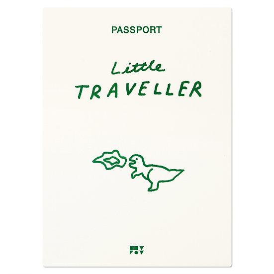 LITTLE TRAVELLER green   Passport cover