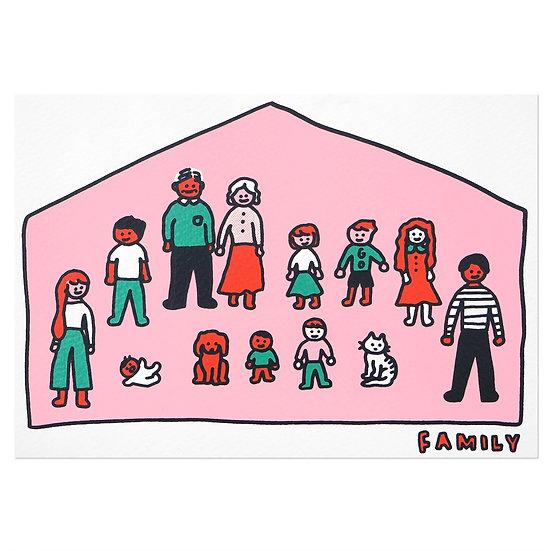 BIG FAMILY | Silkscreen card