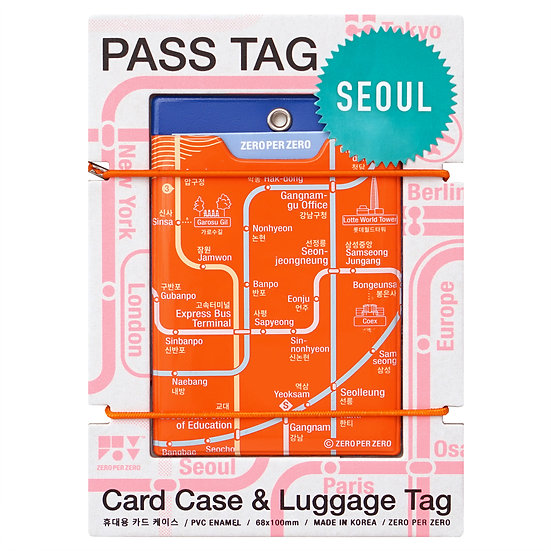 SEOUL orange   Pass tag