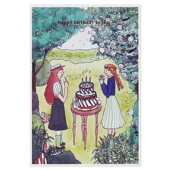 GIRLS   Cake card