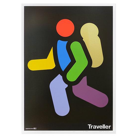 TRAVELLER   Silkscreen poster