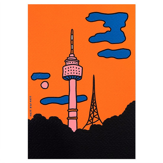 SEOUL TOWER | Silkscreen card