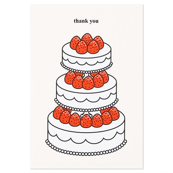STRAWBERRY CAKE(thank you) | Cake card