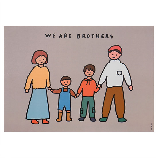FAMILY OF FOUR 4 (BROTHERS) | A3 poster