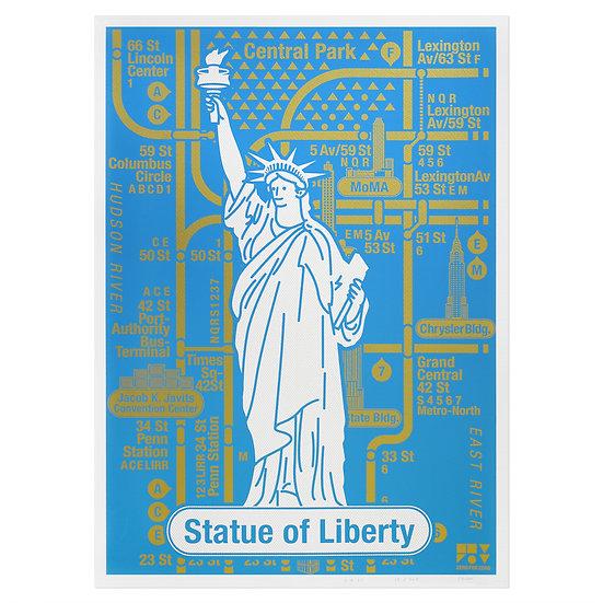 STATUE OF LIBERTY   Silkscreen poster