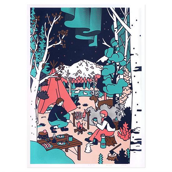 CAMPING | Silkscreen poster