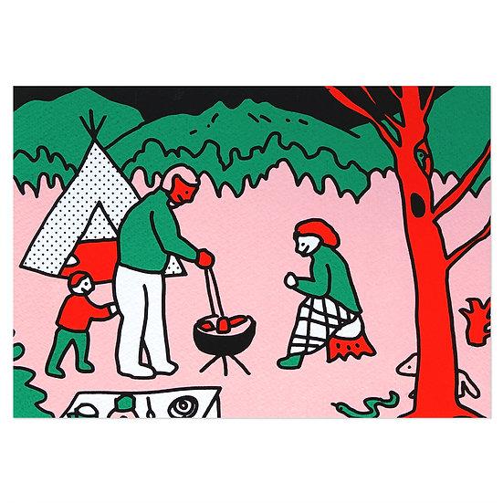 CAMPING | Silkscreen card