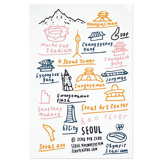 SEOUL hand7   Postcard