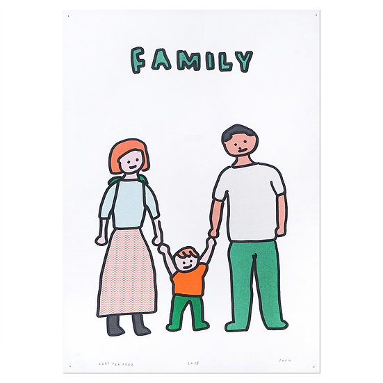 FAMILY2 | A3 RISO poster
