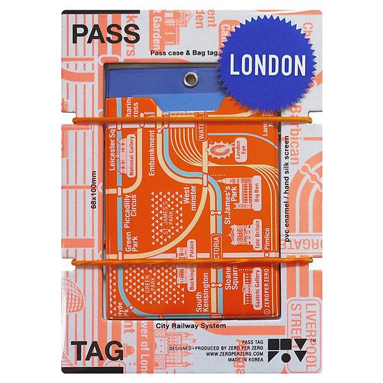 LONDON orange | Pass tag