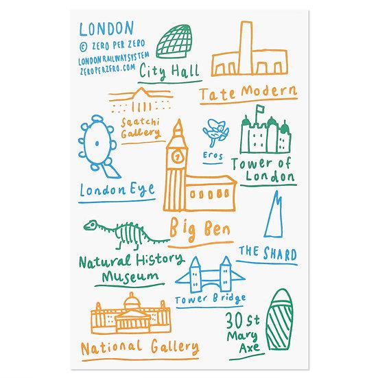 LONDON hand4 | Postcard