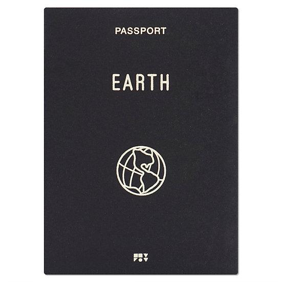 EARTH black   Passport cover