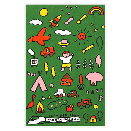 BEBE green world | Postcard