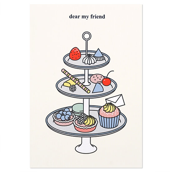 TEA TIME2 (dear my friend) | Cake card
