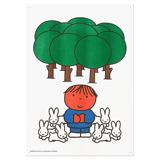 MIFFY - FOREST | A3 RISO poster