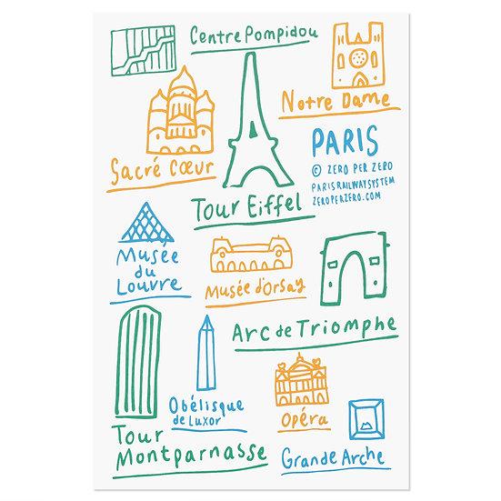 PARIS hand4   Postcard