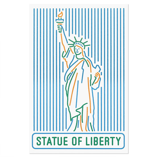 STATUE OF LIBERTY line2 | Postcard