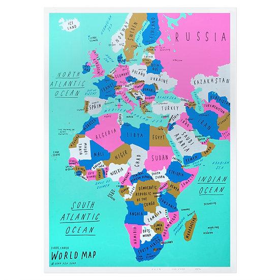 EUROPE & AFRICA | Silkscreen poster