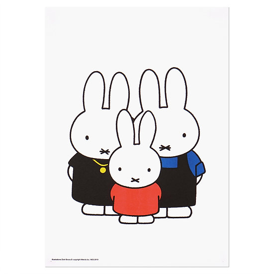 MIFFY FAMILY | MIFFY A3 RISO poster