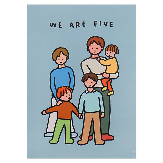 FAMILY OF FIVE 2   A3 poster