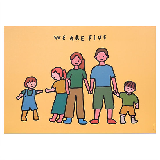 FAMILY OF FIVE   A3 poster